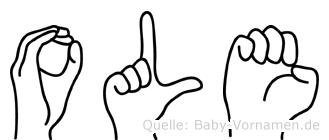 Ole in Fingersprache für Gehörlose