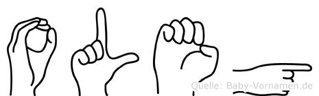 Oleg im Fingeralphabet der Deutschen Gebärdensprache