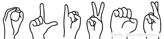 Oliver in Fingersprache für Gehörlose