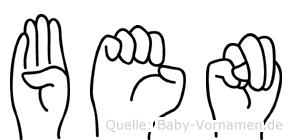 Ben in Fingersprache für Gehörlose