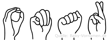 Omar in Fingersprache für Gehörlose