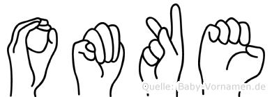 Omke im Fingeralphabet der Deutschen Gebärdensprache