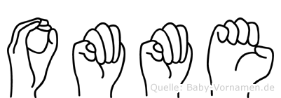 Omme im Fingeralphabet der Deutschen Gebärdensprache