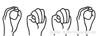 Ommo im Fingeralphabet der Deutschen Gebärdensprache