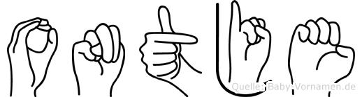 Ontje in Fingersprache für Gehörlose