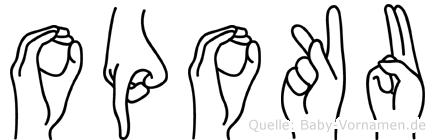 Opoku in Fingersprache für Gehörlose