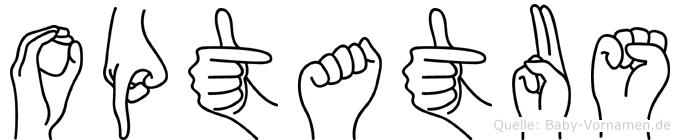 Optatus in Fingersprache für Gehörlose