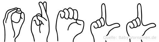 Orell im Fingeralphabet der Deutschen Gebärdensprache
