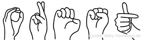 Orest in Fingersprache für Gehörlose