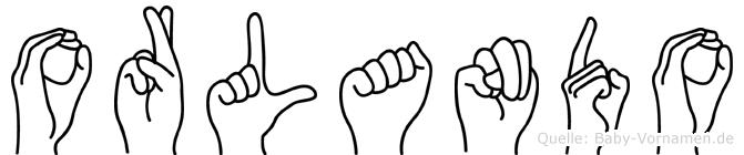 Orlando im Fingeralphabet der Deutschen Gebärdensprache