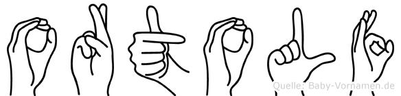 Ortolf im Fingeralphabet der Deutschen Gebärdensprache