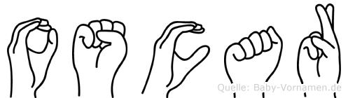 Oscar im Fingeralphabet der Deutschen Gebärdensprache