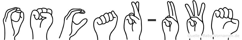 Oscar-Uwe im Fingeralphabet der Deutschen Gebärdensprache