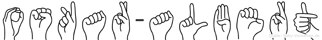 Oskar-Albert im Fingeralphabet der Deutschen Gebärdensprache