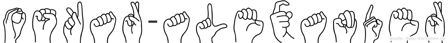Oskar-Alexander im Fingeralphabet der Deutschen Gebärdensprache