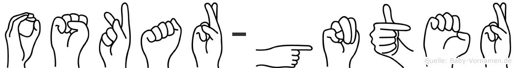 Oskar-Günter im Fingeralphabet der Deutschen Gebärdensprache