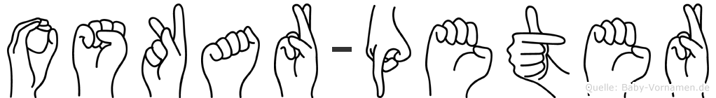Oskar-Peter im Fingeralphabet der Deutschen Gebärdensprache