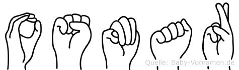 Osmar im Fingeralphabet der Deutschen Gebärdensprache