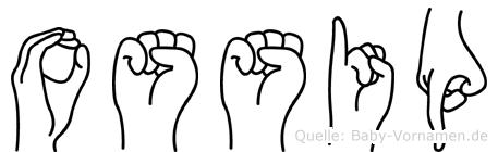 Ossip in Fingersprache für Gehörlose