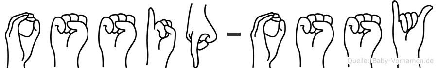 Ossip-Ossy im Fingeralphabet der Deutschen Gebärdensprache