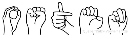 Osten in Fingersprache für Gehörlose