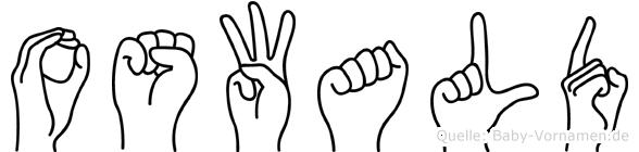 Oswald im Fingeralphabet der Deutschen Gebärdensprache