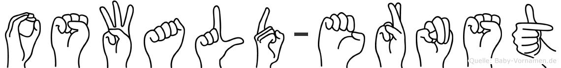 Oswald-Ernst im Fingeralphabet der Deutschen Gebärdensprache