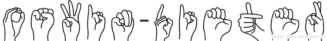 Oswin-Dieter im Fingeralphabet der Deutschen Gebärdensprache