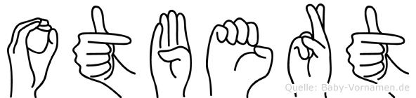 Otbert im Fingeralphabet der Deutschen Gebärdensprache