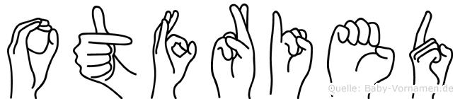 Otfried im Fingeralphabet der Deutschen Gebärdensprache