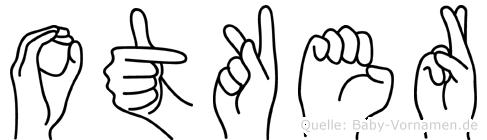 Otker im Fingeralphabet der Deutschen Gebärdensprache