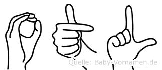 Otl im Fingeralphabet der Deutschen Gebärdensprache