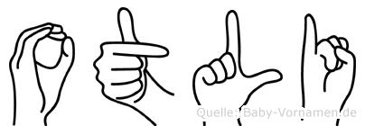 Otli in Fingersprache für Gehörlose