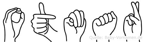 Otmar im Fingeralphabet der Deutschen Gebärdensprache