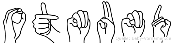 Otmund im Fingeralphabet der Deutschen Gebärdensprache
