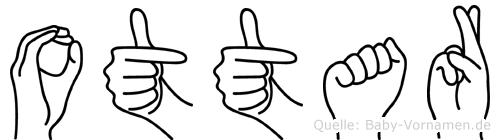 Ottar im Fingeralphabet der Deutschen Gebärdensprache