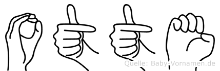 Otte im Fingeralphabet der Deutschen Gebärdensprache