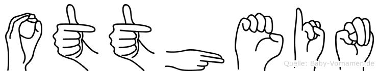 Otthein im Fingeralphabet der Deutschen Gebärdensprache