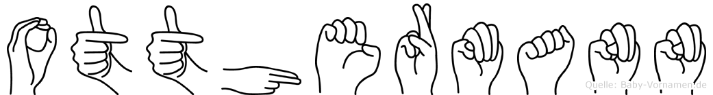 Otthermann im Fingeralphabet der Deutschen Gebärdensprache