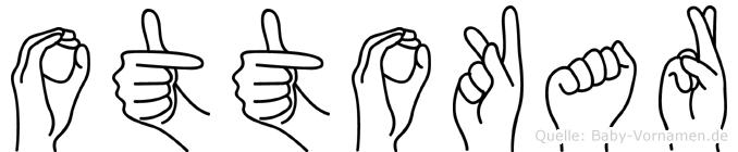 Ottokar im Fingeralphabet der Deutschen Gebärdensprache