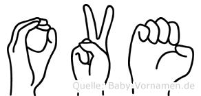 Ove in Fingersprache für Gehörlose