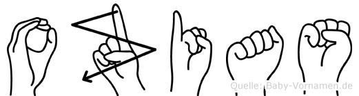 Ozias in Fingersprache für Gehörlose