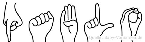 Pablo im Fingeralphabet der Deutschen Gebärdensprache