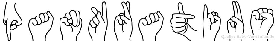 Pankratius im Fingeralphabet der Deutschen Gebärdensprache