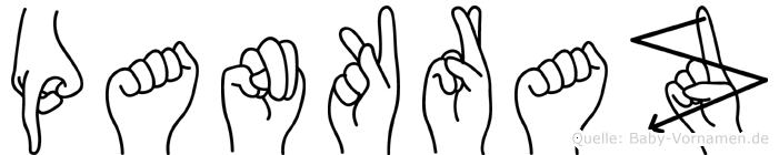 Pankraz in Fingersprache für Gehörlose