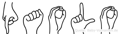 Paolo in Fingersprache für Gehörlose