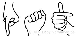Pat im Fingeralphabet der Deutschen Gebärdensprache