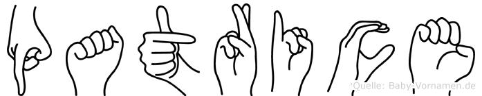 Patrice im Fingeralphabet der Deutschen Gebärdensprache