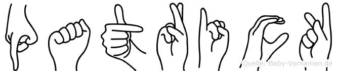 Patrick in Fingersprache für Gehörlose