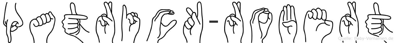 Patrick-Robert im Fingeralphabet der Deutschen Gebärdensprache